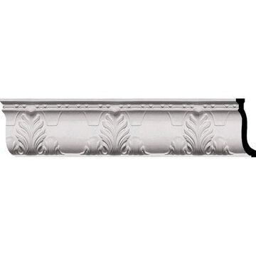 Ekena Millwork Alexandria Acanthus 9 1/4''H x 3 3/4''P x 96''W Leaf and Ribbons Crown Moulding