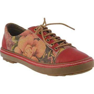 L'Artiste by Spring Step Women's Libbi-Rose Sneaker Red Full Grain Leather/Synthetic