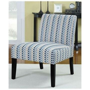 Accent Chair in White and Blue by Coaster