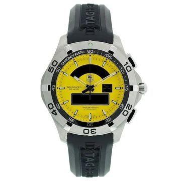 Tag Heuer Men's CAF1011.FT8011 'Aquaracer' Chronotimer Analog-Digital Black Rubber Watch