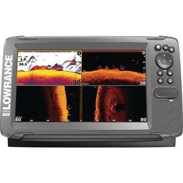 Lowrance 000-14302-001 HOOK-2 9 Fishfinder with TripleShot Transducer, US/Canada Nav+ Maps, CHIRP, DownScan Imaging & 9