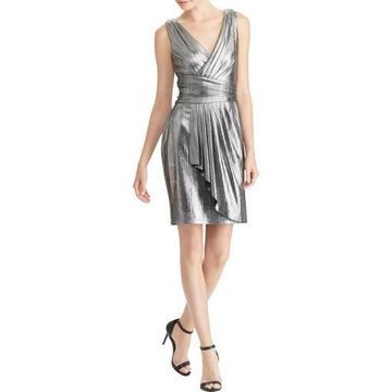 American Living Womens Party Metallic Cocktail Dress