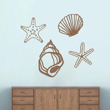 Large Set of Seashells Wall Decals