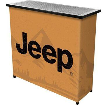 Portable Bar-Collapsible Indoor Outdoor, Pop-Up Drink Station with Jeep Sand Mountain-Patio, Garage or Man Cave Accessories