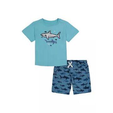 Kids Headquarters Boys' Boys 4-7 2-Piece Shark Set - -
