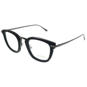 Tom Ford FT 5496 005 Unisex Matte Black Ruthenium Frame Eyeglasses 47mm