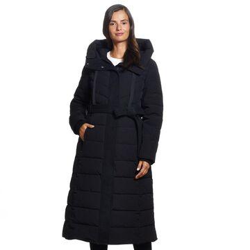 Women's Ellen Tracy Hooded Long Puffer Coat