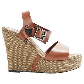 Barbara Bui Camel Leather Sandals