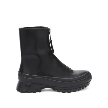 Jil Sander - Exaggerated-sole Zipped Leather Boots - Womens - Black