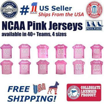 Pets First NCAA College Michigan Wolverines Pet Dog Pink Sport Jersey - Small