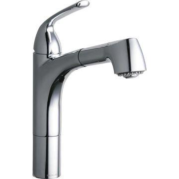 Elkay Gourmet Chrome 1-Handle Deck-Mount Pull-Out Handle Kitchen Faucet   LKGT1041CR