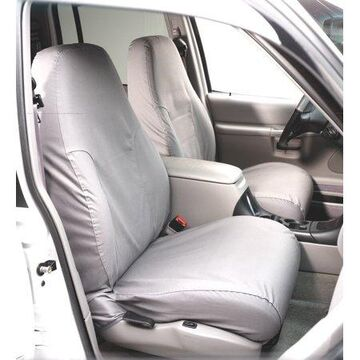 Covercraft SeatSaver Front Row Custom Fit Seat Cover for Select Ford F-150 Models - Polycotton (Grey)