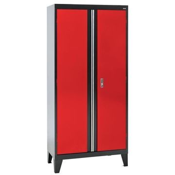 Sandusky 36-in W x 79-in H x 18-in D Steel Freestanding Garage Cabinet in Red