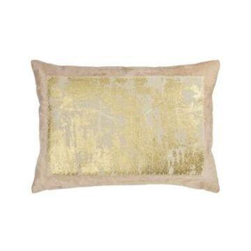 Michael Aram Linen Distressed Metallic Lace Pillow Bedding