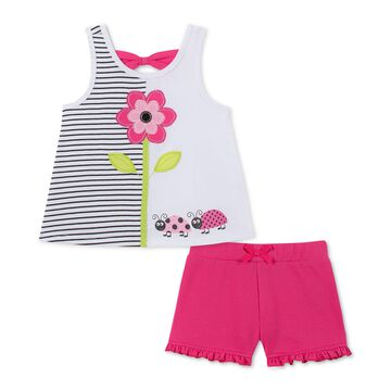 Little Girls 2-Pc. Tank Top & Shorts Set