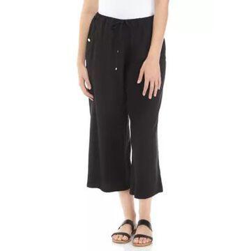 Rafaella Women's Drawstring Waist Cropped Pants -