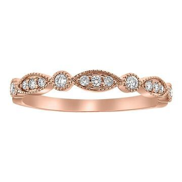 10k Rose Gold 1/5 carat Diamonds Art Deco Vintage Band Ring by Beverly Hills Charm
