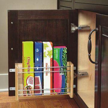 Rev-A-Shelf - 4WFR-18-1 - Medium Wood Door Mount Foil Rack