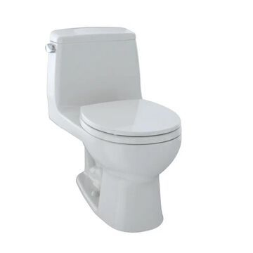 TOTO MS853113 Ultimate One Piece Round 1.6 GPF Toilet with Gravity Flush System - Seat Included Colonial White Fixture Toilet One-Piece Round