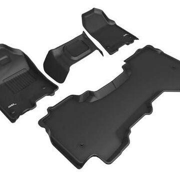2019 Dodge Ram 3D Maxpider Kagu Floor Mats, Front and 2nd Row Floor Mats in Black