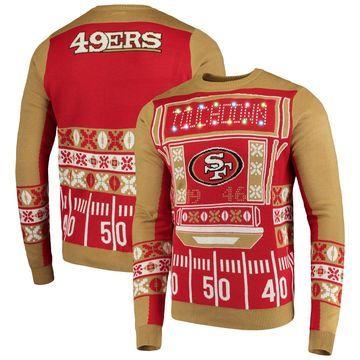 San Francisco 49ers Klew Light-Up Ugly Sweater Scarlet