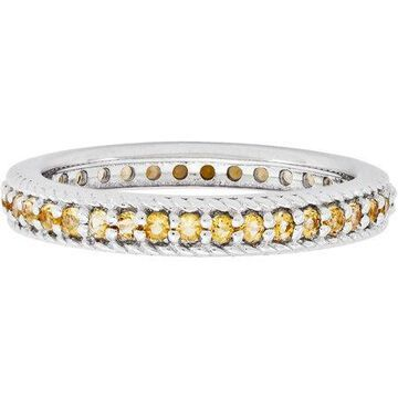 Stackable Expressions Citrine Sterling Silver Polished Eternity Ring