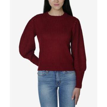 Ultra Flirt Juniors' Puff-Sleeved Sweater
