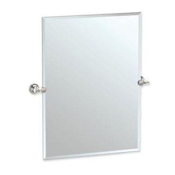 Gatco Tavern 31.5-Inch x 28-Inch Rectangular Frameless Mirror in Polished Nickel