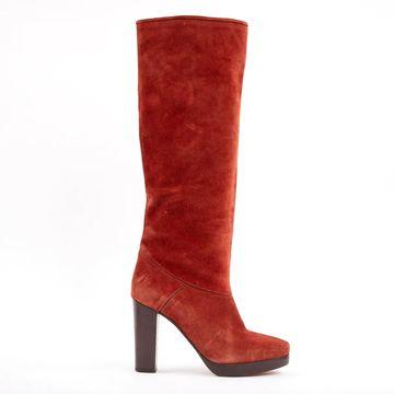 Vanessa Bruno Orange Suede Boots