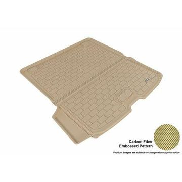 3D MAXpider 2015-2017 Volvo XC90 All Weather Cargo Liner in Tan with Carbon Fiber Look