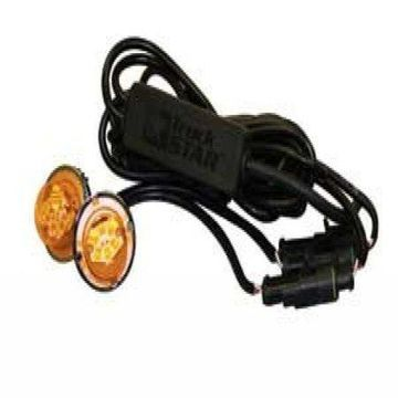 Buyers Products 8891216 Amber LED Strobe Light (LED AMBER 15ft CBL IN LINE)