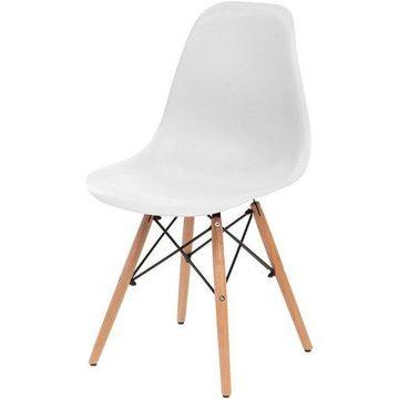 Iris IRS586700 Armless Classic Shell Chair, White