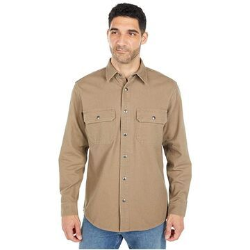 Filson Canvas Work Shirt (Gravel Taupe) Men's Clothing
