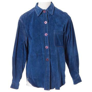 Nina Ricci Blue Suede Jackets