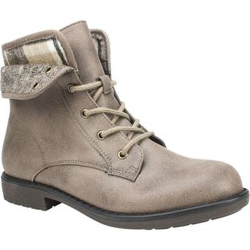 Cliffs by White Mountain Women's Derby Ankle Boot Stone Textile