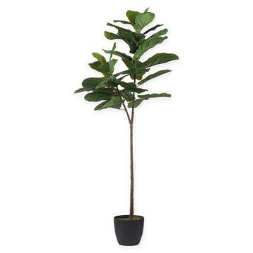 """A&B Home 59"""" Artificial Fiddle Leaf Fig Tree In Planter Green"""