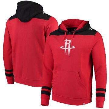 Men's Majestic Red/Black Houston Rockets Triple Double Pullover Hoodie
