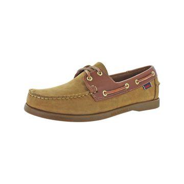 Sebago Mens Spinnaker Boat Shoes Nubuck Slip On