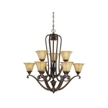 Designers Fountain 81189-IW 9 Light Chandelier Olympia Collection