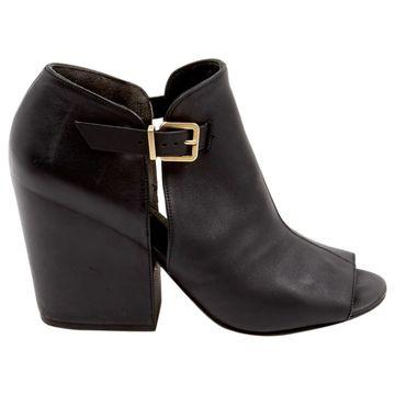 Robert Clergerie Black Leather Sandals