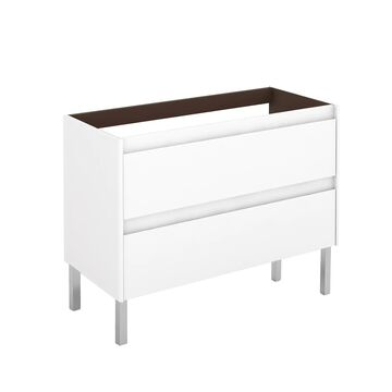 WS Bath Collections Ambra 40-in Glossy White Bathroom Vanity Cabinet   AMBRA 100F WG BASE