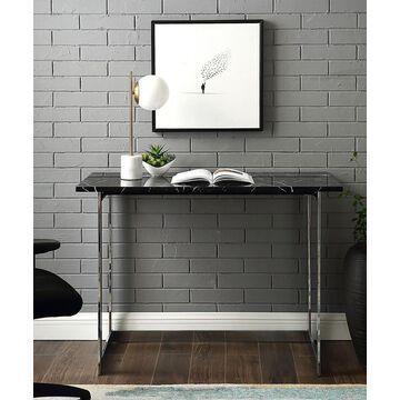 Walker Edison Desks Faux - Black & Marbled Desk