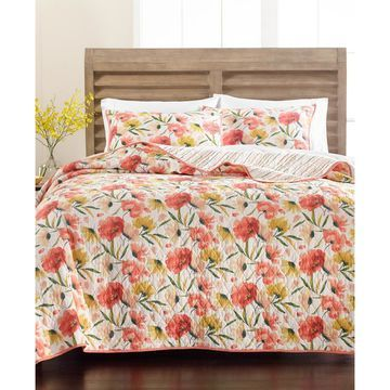 Sunset Floral King Quilt, Created for Macy's
