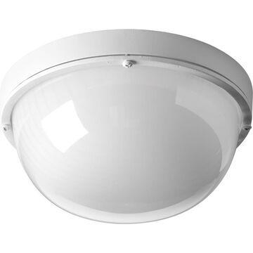 Progress Lighting Bulkheads LED 4.375-in H White LED Outdoor Wall Light ENERGY STAR   P3648-3030K9