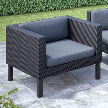CorLiving Oakland Patio Chair, Dove Grey Cushions