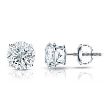 Auriya 3 1/4ctw Certified Diamond Stud Earrings by Auriya