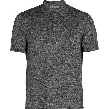 Icebreaker Men Flaxen SS Polo Shirt - XL - Black