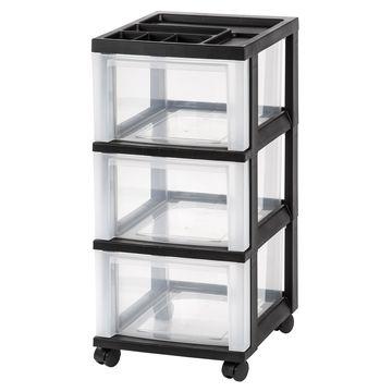 Iris 3-Drawer Cart with Organizer Top