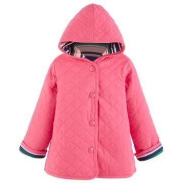 First Impressions Baby Girls Striped Quilted Jacket, Created for Macy's