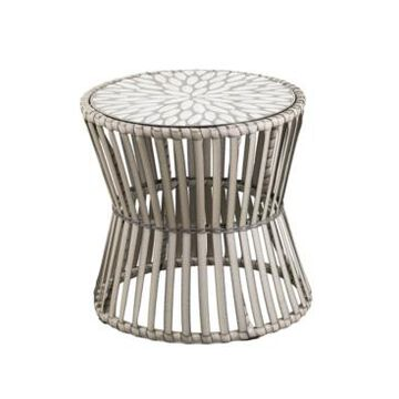Southern Enterprises Anisa Round Outdoor Side Table